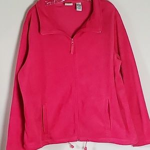 STEPHANIE ROGERS FUCSHIA FLEECE ZIP 2 POCKET SOFT